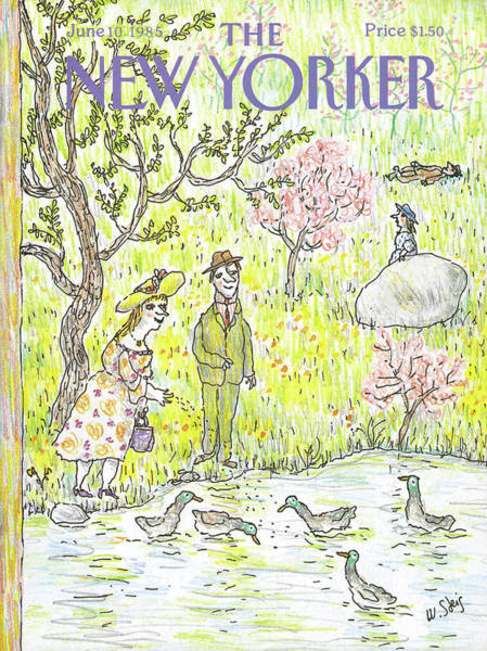 Dress Painting - New Yorker June 10th, 1985 by William Steig