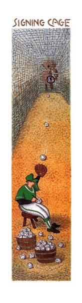 Wall Art - Drawing - New Yorker June 10th, 1996 by John O'Brien