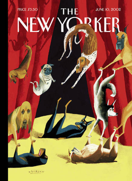 Acrobat Wall Art - Painting - New Yorker June 10th, 2002 by Mark Ulriksen