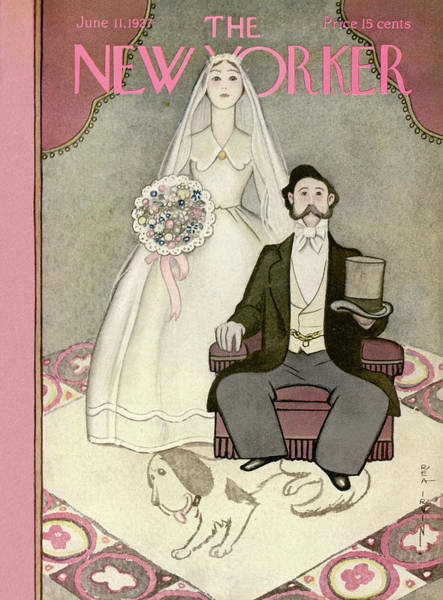 Marriage Painting - New Yorker June 11th, 1927 by Rea Irvin