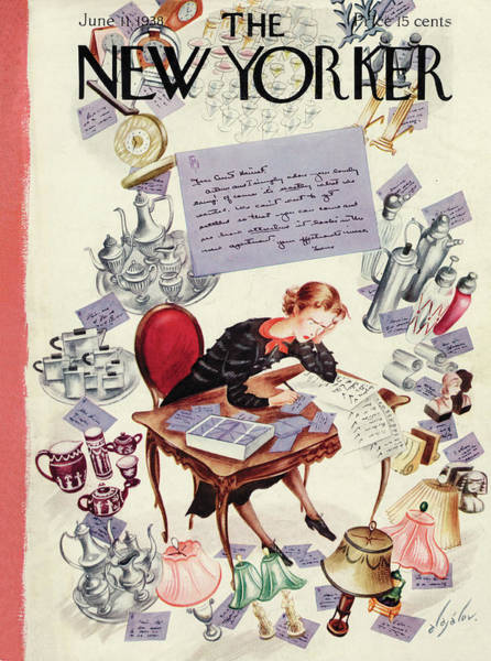 Marriage Painting - New Yorker June 11th, 1938 by Constantin Alajalov