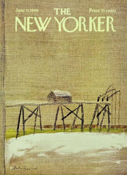 Pier Painting - New Yorker June 11th 1966 by Andre Francois