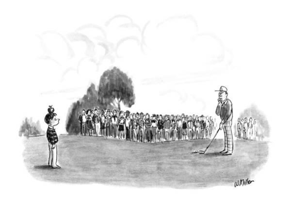 Golfer Drawing - New Yorker June 11th, 1990 by Warren Miller