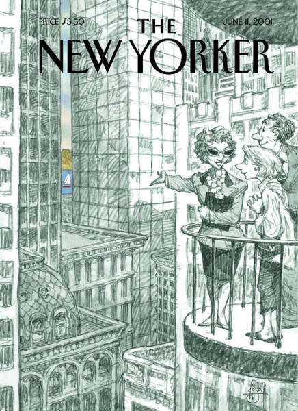 River Painting - New Yorker June 11th, 2001 by Peter de Seve