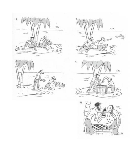 Shipwreck Drawing - New Yorker June 12th, 1943 by Roberta Macdonald