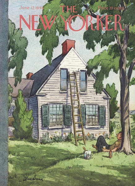 Suburban Painting - New Yorker June 12th, 1948 by Alan Dunn