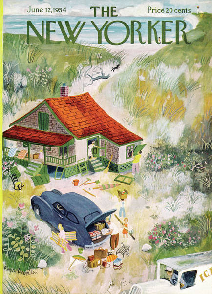 Summer Vacation Painting - New Yorker June 12th, 1954 by Roger Duvoisin