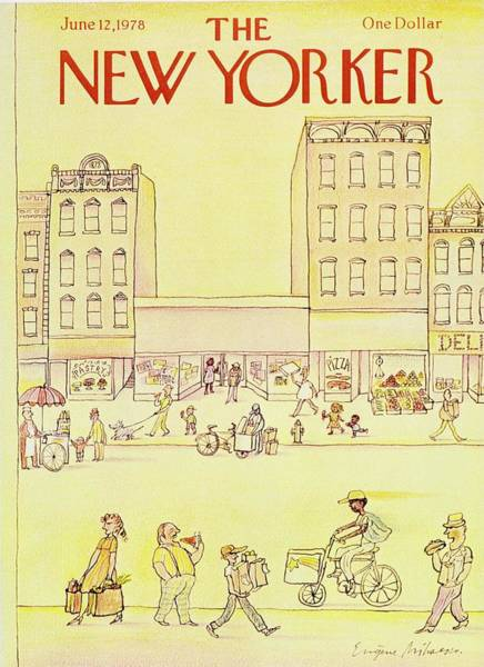 Bicycle Painting - New Yorker June 12th 1978 by Eugene Mihaesco