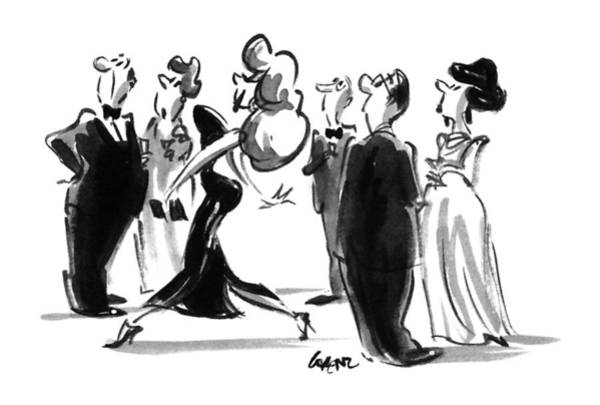 Attractive Drawing - New Yorker June 12th, 1995 by Lee Lorenz