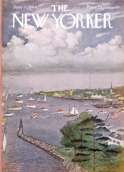 Summer Painting - New Yorker June 13th, 1964 by Albert Hubbell