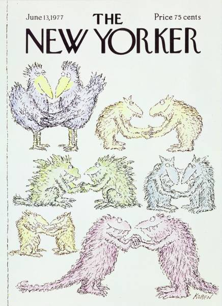 June 13th Painting - New Yorker June 13th 1977 by Edward Koren