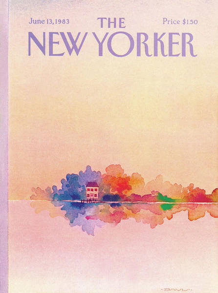Lake House Painting - New Yorker June 13th, 1983 by Susan Davis