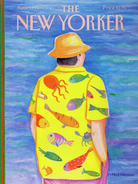 Summer Vacation Painting - New Yorker June 13th, 1988 by Pamela Paparone