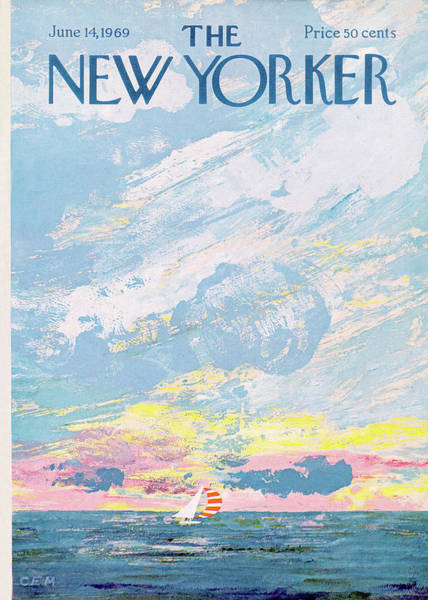 Summer Painting - New Yorker June 14th, 1969 by Charles E Martin