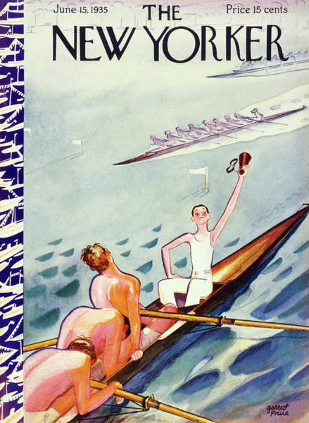 Rowing Painting - New Yorker June 15 1935 by Garrett Price