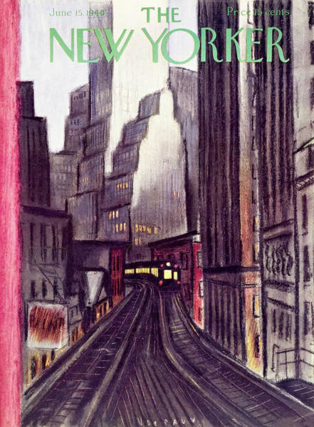 City Painting - New Yorker June 15 1940 by Victor De Pauw
