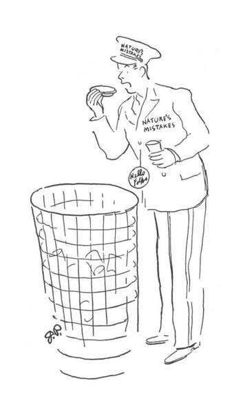 Trash Drawing - New Yorker June 15th, 1940 by Garrett Price