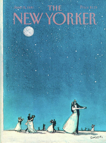 Entertainment Painting - New Yorker June 15th, 1981 by Charles Saxon