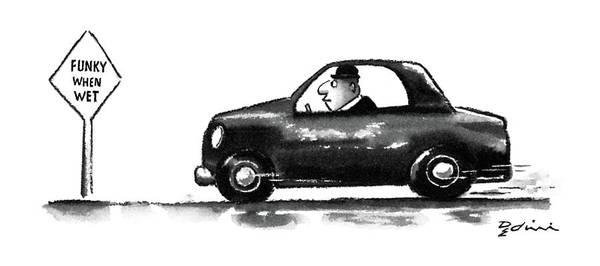 Funky Drawing - New Yorker June 15th, 1987 by Eldon Dedini