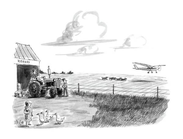 Rust Drawing - New Yorker June 15th, 1987 by Warren Miller