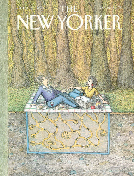 Women Painting - New Yorker June 15th, 1992 by John O'Brien