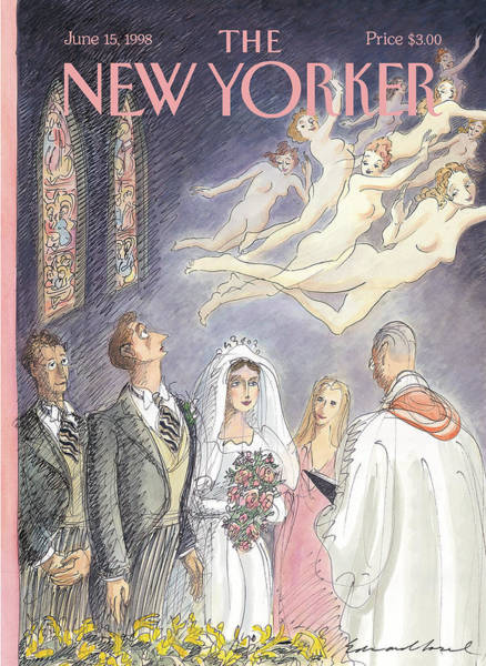 Past Painting - New Yorker June 15th, 1998 by Edward Sorel