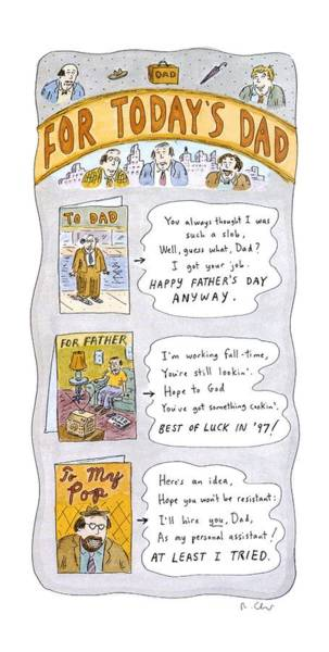 Wall Art - Drawing - New Yorker June 16th, 1997 by Roz Chast