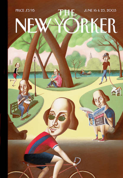 Bicycle Painting - New Yorker June 16th, 2003 by Mark Ulriksen