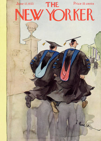 Graduation Painting - New Yorker June 17th, 1933 by Perry Barlow