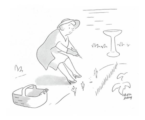 Gardener Drawing - New Yorker June 17th, 1944 by Chon Day