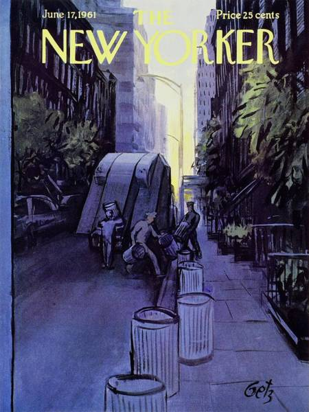June 17th Painting - New Yorker June 17th 1961 by Arthur Getz