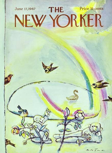Relaxation Painting - New Yorker June 17th 1967 by Andre Francois