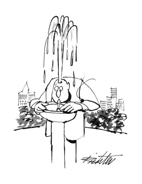 June 17th Drawing - New Yorker June 17th, 1996 by Mischa Richter