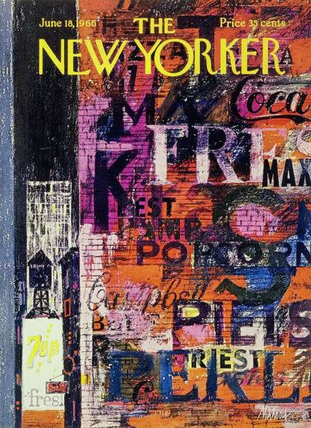 1960s Painting - New Yorker June 18th 1966 by Kenneth Mahood