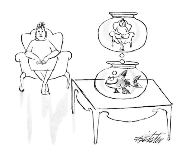 Imagination Drawing - New Yorker June 18th, 1990 by Mischa Richter