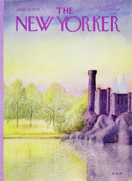 Water Painting - New Yorker June 19th 1978 by Charles Martin