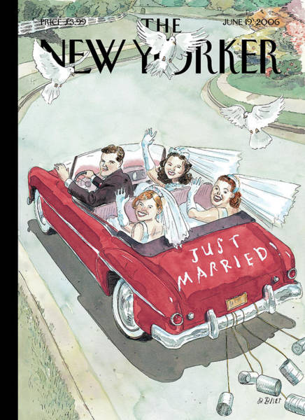 Marriage Painting - New Yorker June 19th, 2006 by Barry Blitt