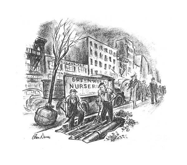 Gardener Drawing - New Yorker June 1st, 1940 by Alan Dunn