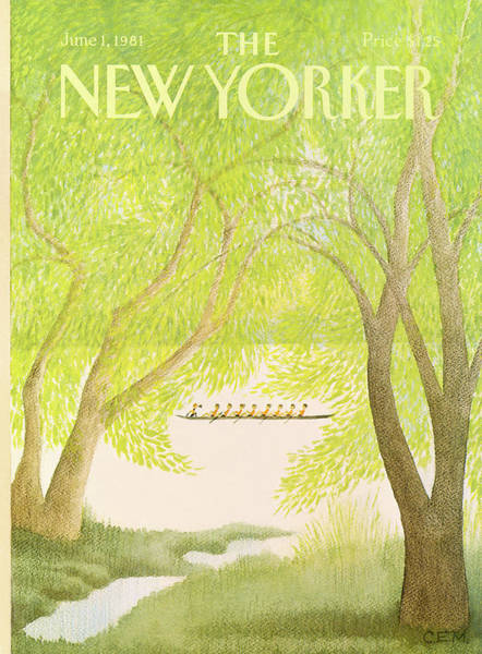 Sports Painting - New Yorker June 1st, 1981 by Charles E Martin