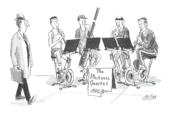 Classical Music Drawing - New Yorker June 1st, 1987 by Warren Miller