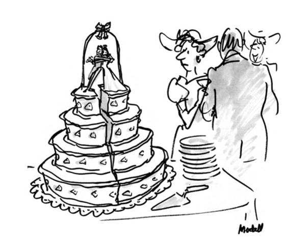 Groom Drawing - New Yorker June 1st, 1992 by Frank Modell