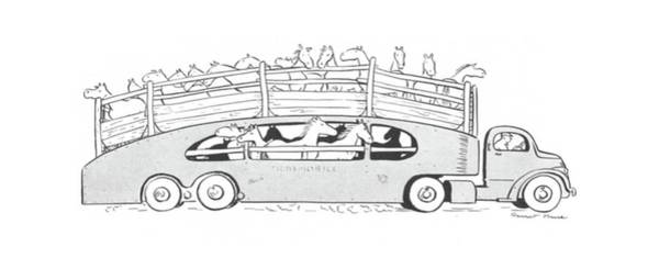 Trailer Drawing - New Yorker June 20th, 1942 by Garrett Price