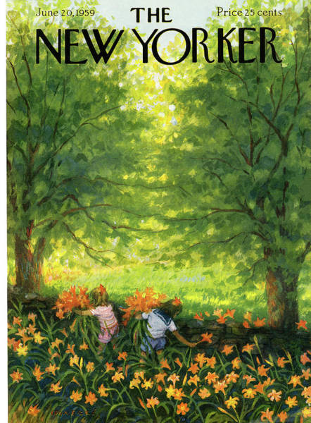 Summer Painting - New Yorker June 20th, 1959 by Edna Eicke