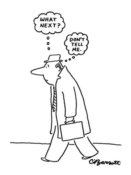 Street Drawing - New Yorker June 20th, 1977 by Charles Barsotti