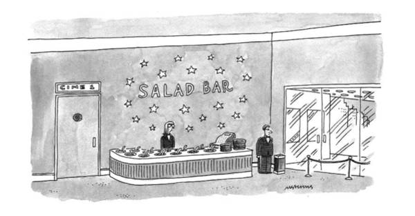 Salad Drawing - New Yorker June 20th, 1994 by Mick Stevens