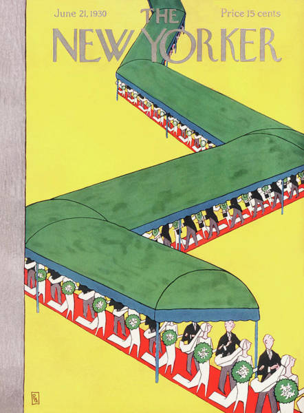 Marriage Painting - New Yorker June 21st, 1930 by Gardner Rea