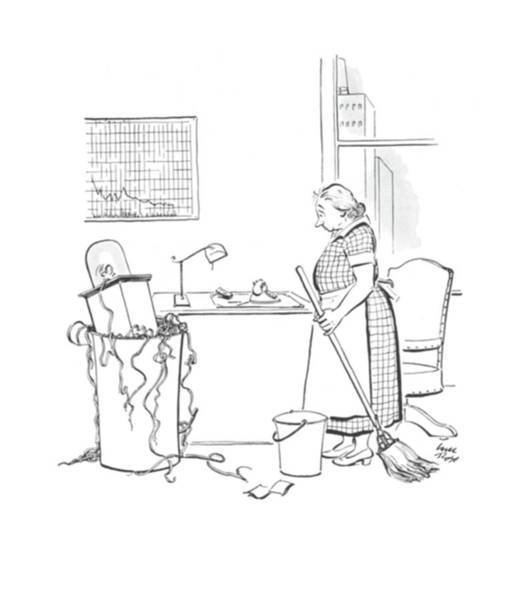 Wasted Drawing - New Yorker June 21st, 1941 by Carl Rose