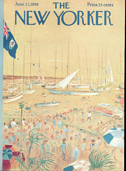 Nautical Painting - New Yorker June 21st, 1958 by Garrett Price