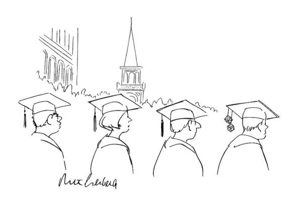 Graduation Drawing - New Yorker June 21st, 1993 by Mort Gerberg