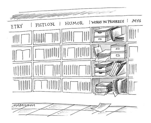 Bookstore Drawing - New Yorker June 21st, 1999 by Mick Stevens